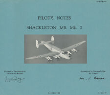 PILOTS NOTES: AVRO SHACKLETON MR2 MARITIME RECON 140pps+FREE 2-10 PAGE INFO PACK