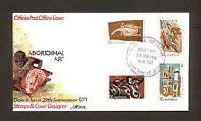 1971 FDC497 ABORIGINAL ART APO Artist Cachet FDC