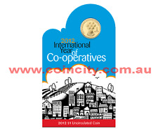 2012 $1 International Year of Co-Operatives Unc Coin in Card