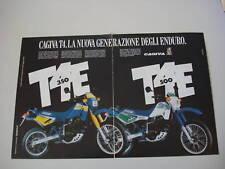 advertising Pubblicità 1987 MOTO CAGIVA T4 350/500 E