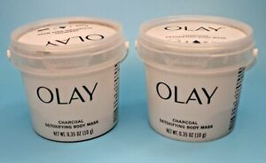 2 - .35 oz Containers - Olay Charcoal Detoxifying Body Mask
