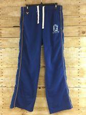 American Eagle Track Pants Mens Medium Fleece Lined Lounge Ankle Zippers Blue