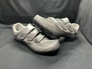 Specialized Riata Womens Grey Cycling Shoes Size 10.5 42 Shimano SM-SH51 Biking