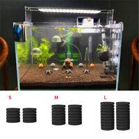 3pcs Filter Sponge Water Filtering Foam Biochemical For Aquarium Fish Tank Black
