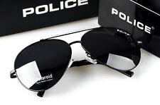 2016 Pure  Men's  Police Sunglasses Driving Glasses White frame Black lenses