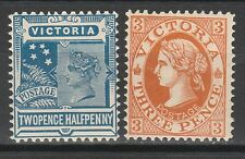 VICTORIA 1901 QV POSTAGE 21/2D AND 3D WMK V/CROWN PERF 12.5