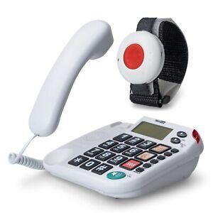 MaxCom KX481SOS: Hausnotruf Telefon mit Notrufarmband und Funk Notruf Sender