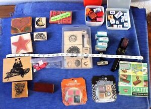 LOT OF Assorted   Rubber  Stamps    Crafts      stamp up