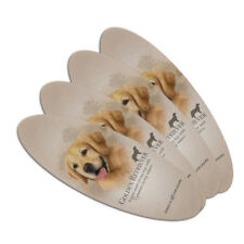 Golden Retriever Dog Breed Double-Sided Oval Nail File Emery Board Set 4 Pack