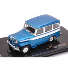 JEEP WILLYS STATION WAGON 1960 METALLIC BLUE/WHITE 1:43 Ixo Model Auto Stradali