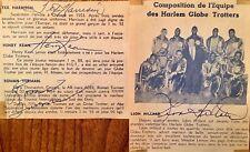 HARLEM GLOBE TROTTERS ,GENUINE VINTAGE AUTOGRAPHS 1950's