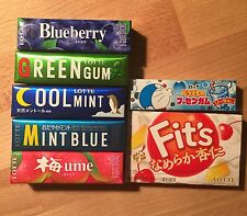 Lotte, Chewing Gum, 7 kinds Assortment, Ume, Mint, Fit's, Japan Candy