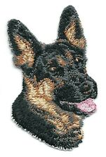 """1 3/4"""" x 2 3/4"""" German Shepherd Puppy Dog Breed Portrait Embroidered Patch"""
