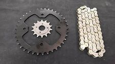 POLARIS PREDATOR 500 SPROCKET & NAT. CHAIN SET 14/38  2005 - 2007  blk