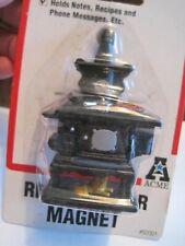 Nos Acme Antique Black Cook Stove Refrigerator Magnet Dollhouse Miniature