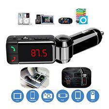 Dual USB Auto Car Bluetooth FM Transmitter MP3 Radio Player USB Charger & AUX