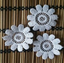 Guipure Lace Embroidered Patch Ivory Flower Applique Sew On Wedding Decoration