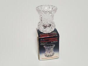 Vtg 1988 ARTMARK 24% Lead Crystal Toothpick Holder New in Box