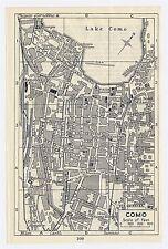 1937 ORIGINAL VINTAGE CITY MAP OF COMO / LOMBARDY / ITALY