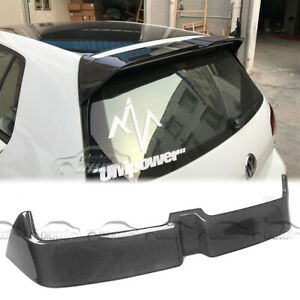 For VW Volkswagen GOLF Mk7 GTI & R 15+ Carbon Fiber Rear Trunk Wing Lip Spoiler