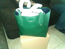 NWT MICHAEL KORS REVERSIBLE LARGE TOTE/MOSS/NAVY     sale price 219.00