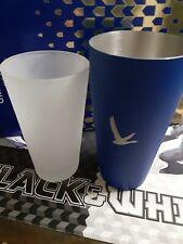 Grey Goose Blue Metal Shaker & Frost Glass