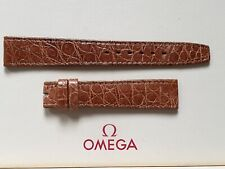 NOS Vintage & Stunning Omega 16mm Brown Crocodile Strap - Uses a 14mm buckle