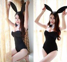 Women Sexy Black Rabbit Bunny Halloween Party Cosplay Costume Fancy Bodysuit