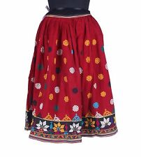 ETHNIC VINTAGE BELLY DANCE SKIRT COLLECTIBLE BEAUTIFUL BANJARA KUCHI RABARI NEW