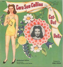VINTGE UNCUT 1942 CORA COLLINS PAPER DOLL ~ORG SZ LASR REPRODUCTOIN~NO1 FREE SH