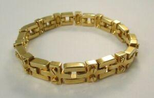 "ST. JOHN Gold Tone Chain Link 7"" Bracelet RUNWAY"
