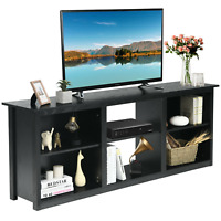 "2-Tier 70"" Fireplace Entertainment Media Console TV Stand Entryway Living room"