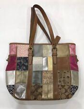 COACH Large Signature Leather Patchwork Tote Handbag Purse B06Q-10001