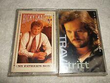 Ricky Skaggs & Travis Tritt Two Different Cassette Tape Music Lot