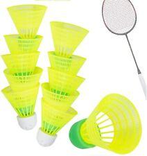 10X Speedbadminton Federbälle schnell gelb Badmintonbälle Training & Wettkampf