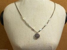 Fossil Silvertone Love Story Mini Locket Pendant Necklace New! NWT