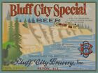 """BLUFF CITY SPECIAL BEER 9"""" x 12"""" METAL SIGN"""