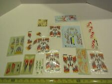 Model Kit Car Kitbash Decals Sheets Parts Accessory Auto Race Racing Flames Fire