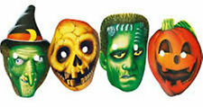 HALLOWEEN - SET OF 4 PARTY PAPER MASKS