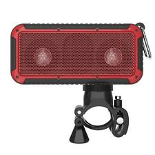 FREE Bike Mount Portable Wireless IP66 Bluetooth Stereo Speaker LED 5Wx2 New Bee