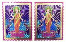 2 X Pegatina Adhesiva de Papel de Aluminio laxmiji tradicional-Pegatina religiosa hindú