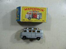 865| Matchbox Nr 34 Volkswagen Camper silber - in OVP