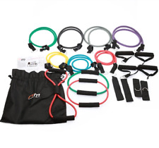19 PC Resistance Exercise Fitness Bands Tubes Kit Yoga Set