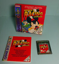 Nintendo game boy color ~ Mickey's Racing Adventure avec neuf dans sa boîte & Instructions