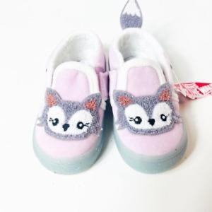 Vans Asher V (Snow Fox) Pink, Slip On - Toddler Size  9