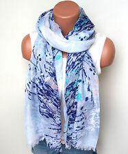 Neu Langschal Halstuch Schal Tuch Fashion Blumen Farbverlauf Baumwollmischung