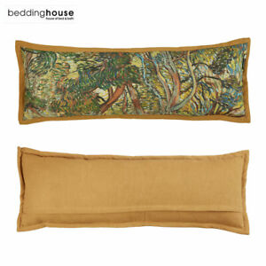 Garden Ochre Luxury Cotton Filled Cushion 30 x 90 cm by Bedding House
