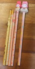 Lot of 5 VINTAGE Sanrio My Melody Hello Kitty PENCILS 1976 80s 90s