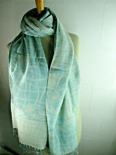 Women's Scarf Herrnschal Reversible Cotten Stole Vintage Tooscha New SO6