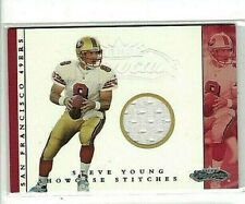 JOE MONTANA 2001 FLEER SHOWCASE GAME WORN JERSEY ~ 49'ERS